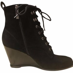 New BCBGeneration Wiley Wedge Lace Up Booties